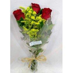 Arranjo com 3 rosas - 1390