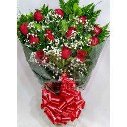 Ramalhete com 12 rosas - 1466
